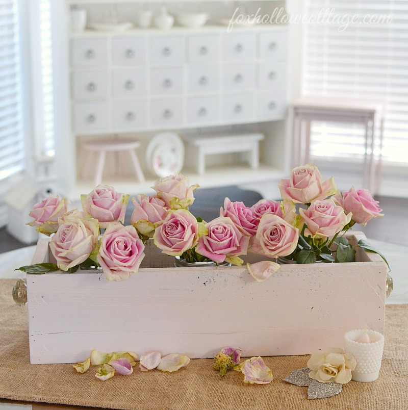 How To Make A Shabby Wood Trough Box Fox Hollow Cottage