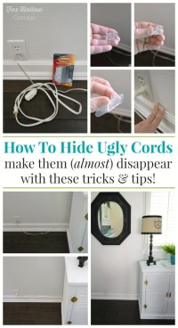 How To Hide and Organize Unsightly Cords - Fox Hollow Cottage