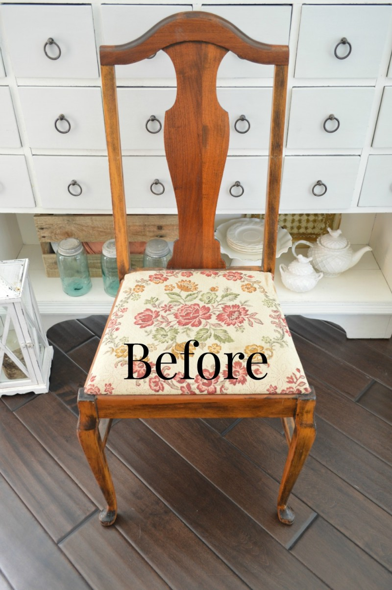 before - chair makeover
