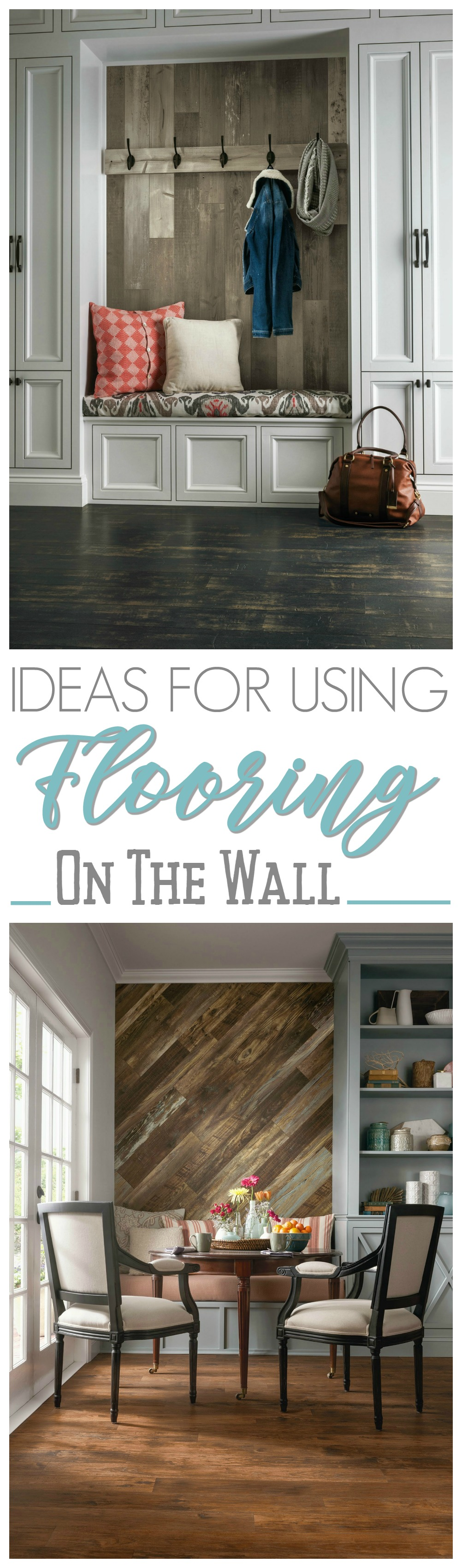Wood Feature Accent Wall Ideas Using Flooring