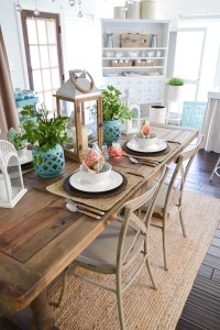 Cottage Farmhouse Table Decorating Ideas - Fox Hollow Cottage