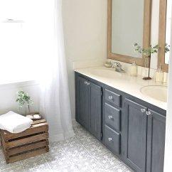 Kitchen Linoleum Cheap Sinks Black Painted Vinyl Floor Makeover Ideas Fox Hollow Cottage Plum Pretty Decor And Design Diy Cement Tile