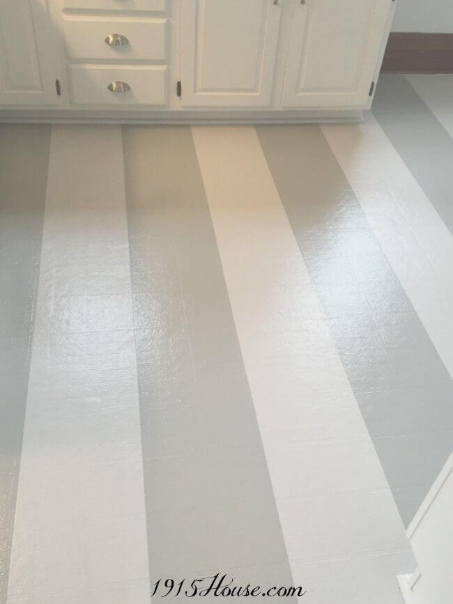 Painted Vinyl Linoleum Floor Makeover Ideas Fox Hollow