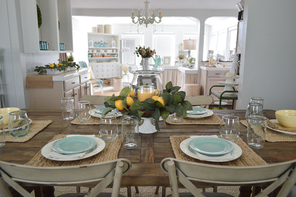 Summer Dining Table Decor Summer Isn't Over Yet - Fox Hollow Cottage