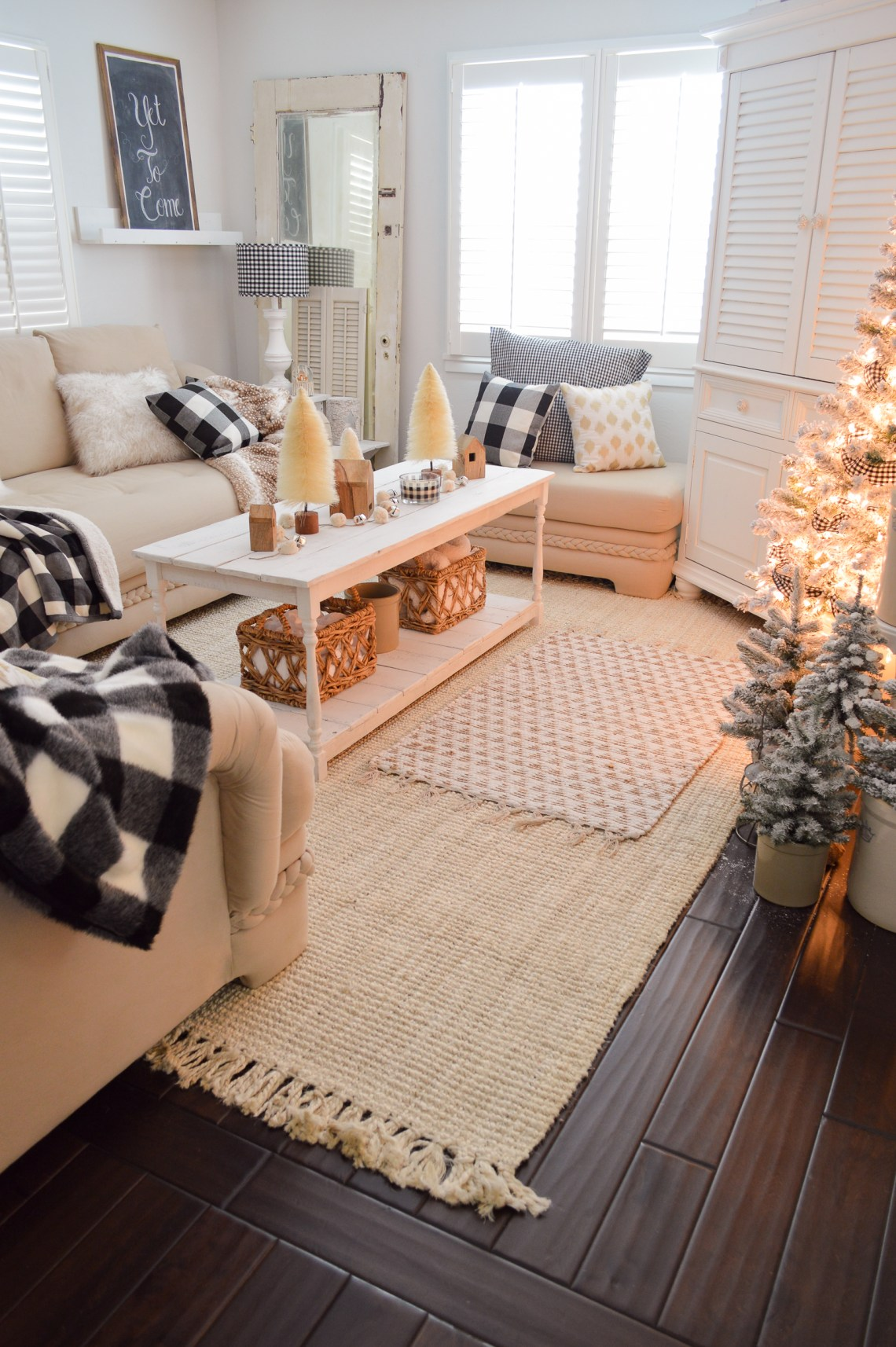 Cozy Cottage Winter Living Room Decorating Ideas Fox Hollow Cottage