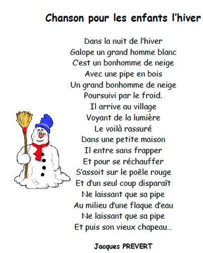Un Petit Texte Sur L'hiver : petit, texte, l'hiver, L'hiver, HOLLOW, FRENCH, IMMERSION