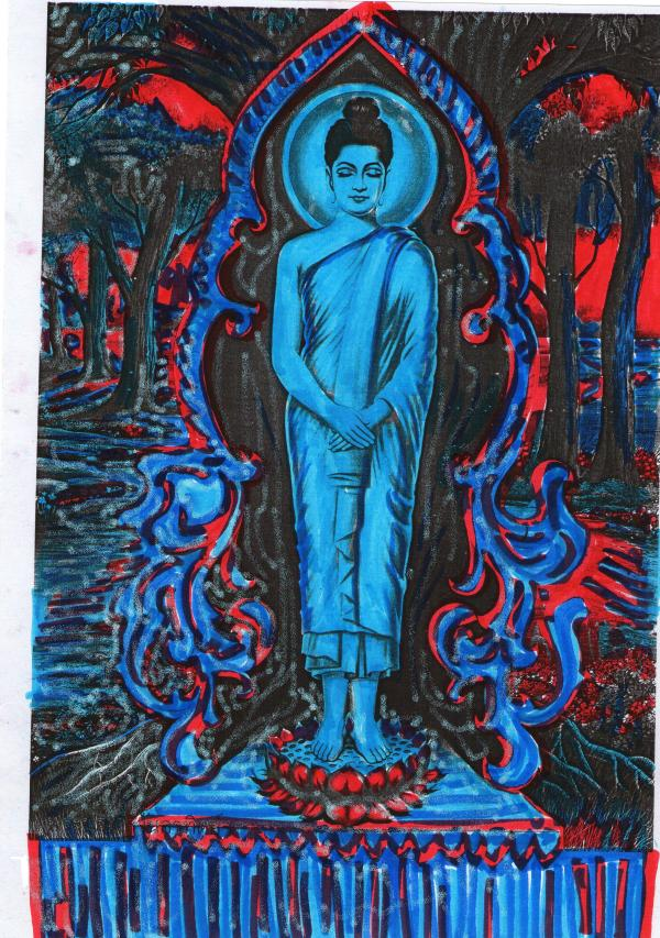 Buddhist Art Work Hugh Fox Iii