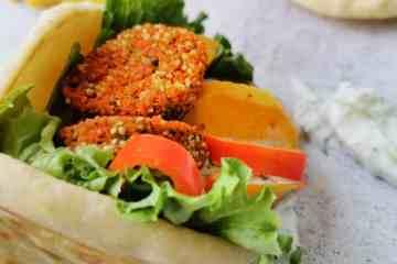 Vegetarische gevulde pita's