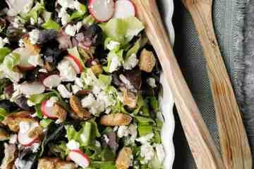Vegetarische salade radijs