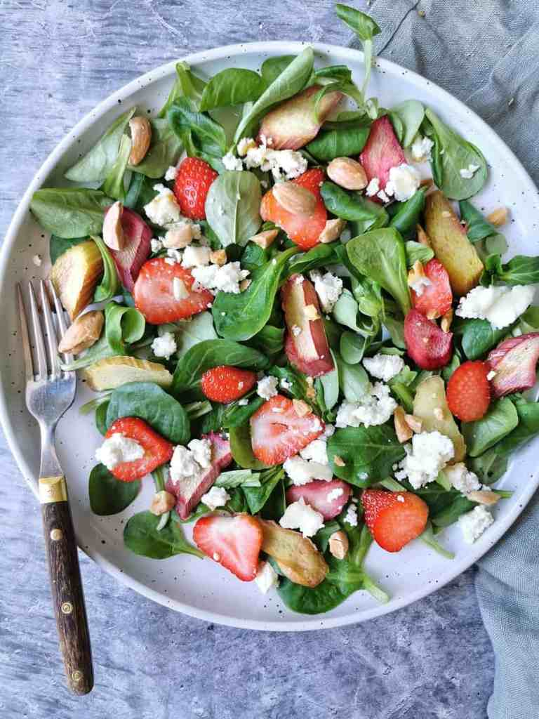Rabarber salade hartig