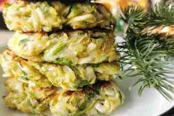 Groente pannenkoek met spruitjes kerst
