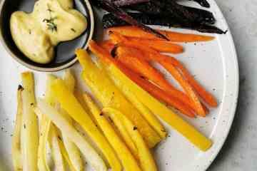 Zelfgemaakte groente friet