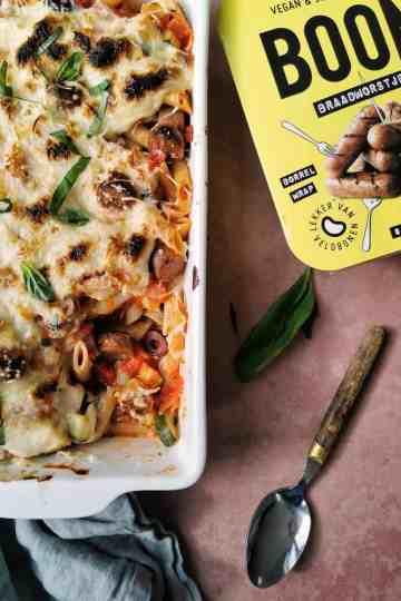 Vegetarische pastaschotel