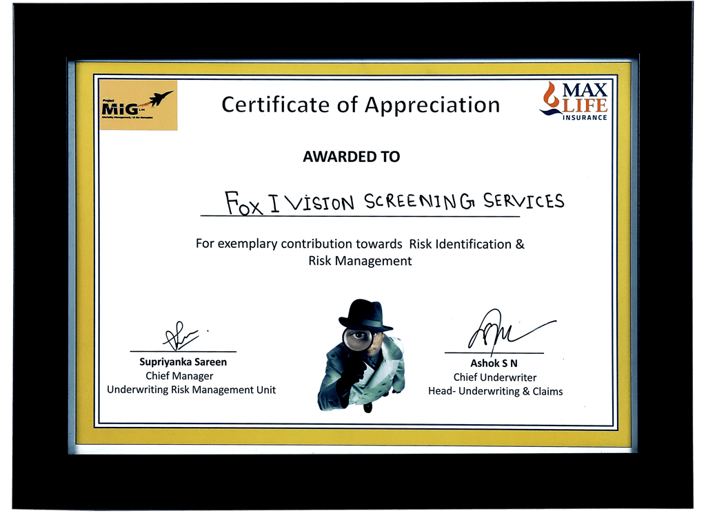 Awards & Certificates | Foxivision Screening Services PVT LTD
