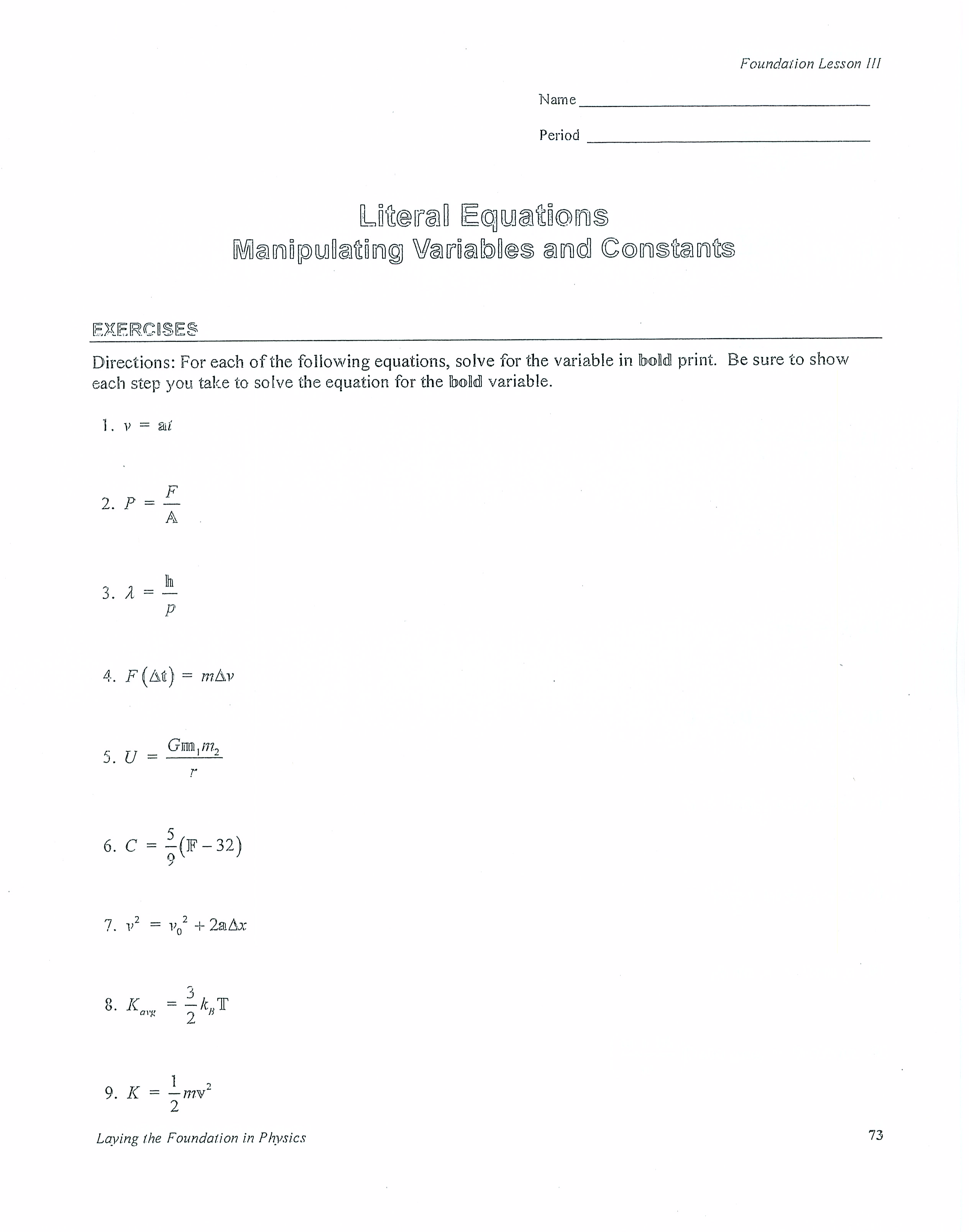 Line Of Best Fit Worksheet Answers