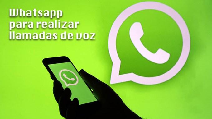 WhatsApp para realizar llamadas de voz