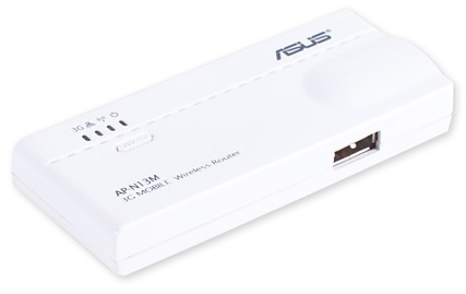 Mobile wireless router for 3G/Wi-Fi networks or ASUS WL-330N3G