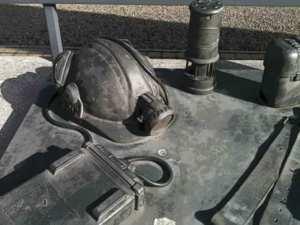 Miner's helmet at the Barony A Frame Ayrshire, Scotland