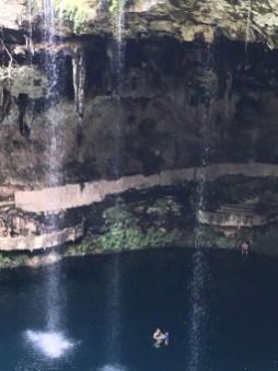Zaci - not so natural waterfall