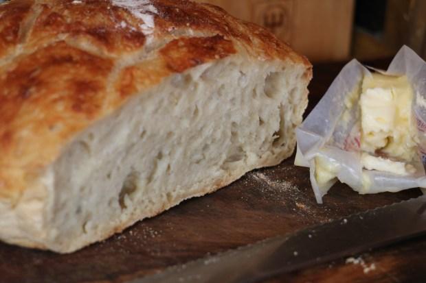 5 minute overnight white bread