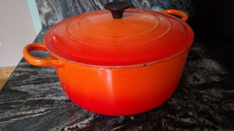 Enameled cast iron by Le Creuset