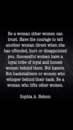 be a woman