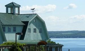 View of Fox Run Vineyards with Seneca Lake