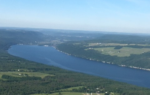 Aerial view of Seneca Lake