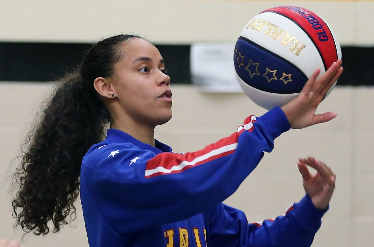 Introducing the newest member of the Globetrotters, Brianna Green.