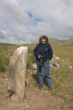 Bronze Age deer stone; deer help souls go to the sky after death