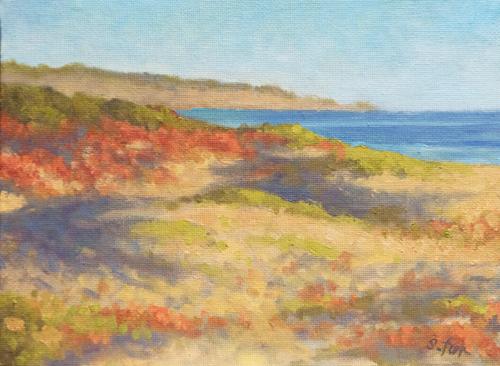 Pismo Beach Morning   8x6   oil on canvasboard