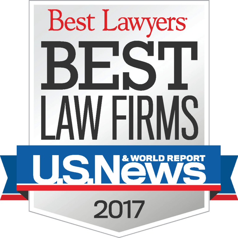 2017 Best Law Firms Badge