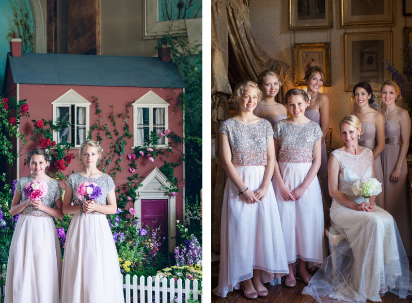 Castle Howard wedding photographer York | Yorkshire wedding photography | bridesmaide in pink