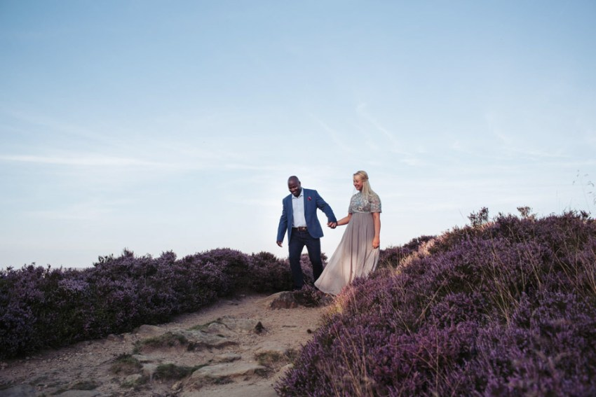 Ilkely Moor engagement | natural wedding photographer Yorkshire UK