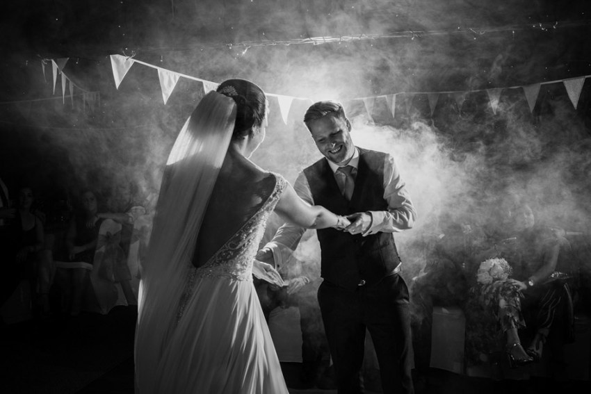 wedding photography Yorkshire UK | first dance at a Leeds barn wedding