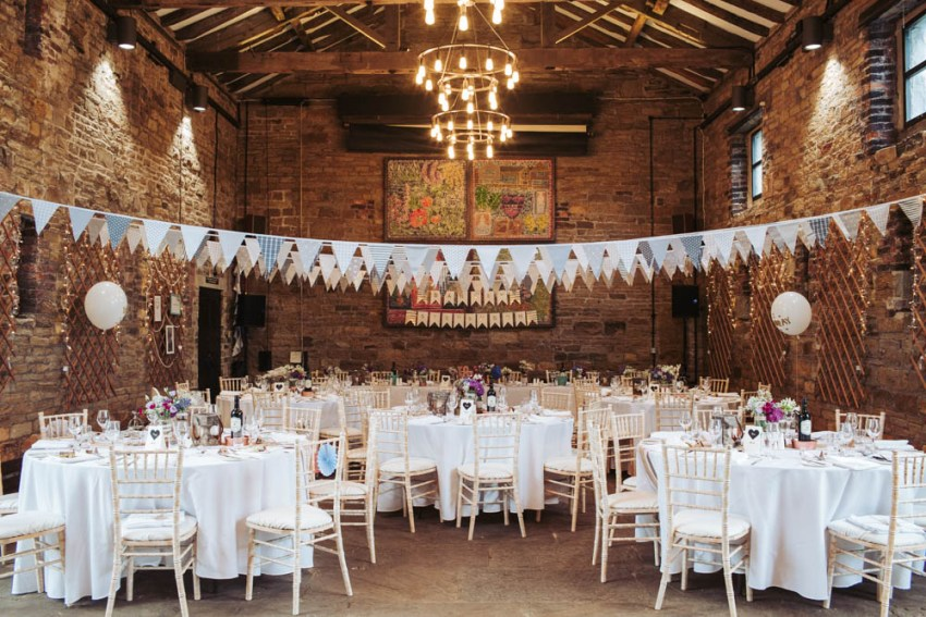 Oakwell Hall wedding rustic barn venue, Leeds, Yorkshire UK