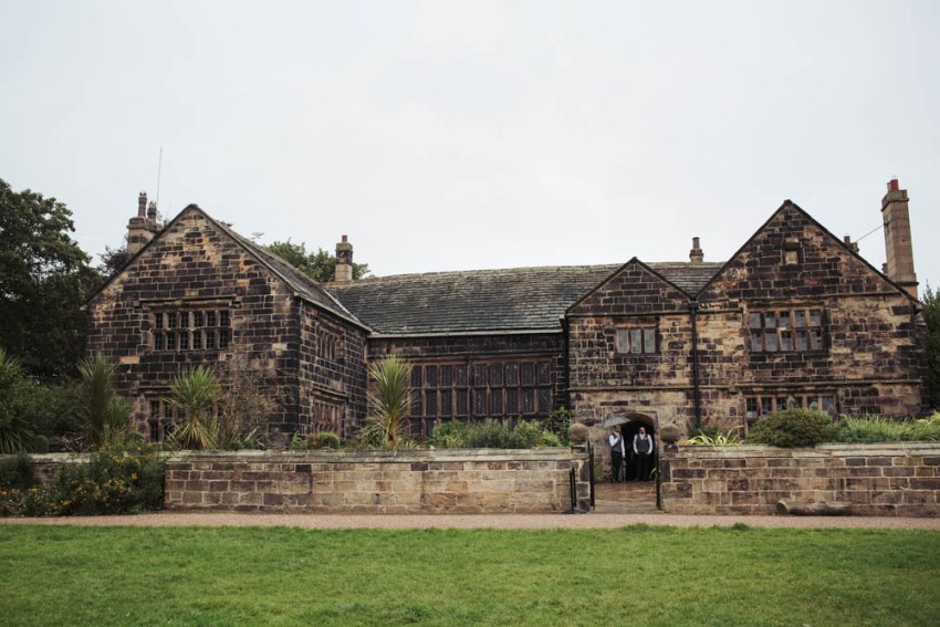 Oakwell Hall in the rain