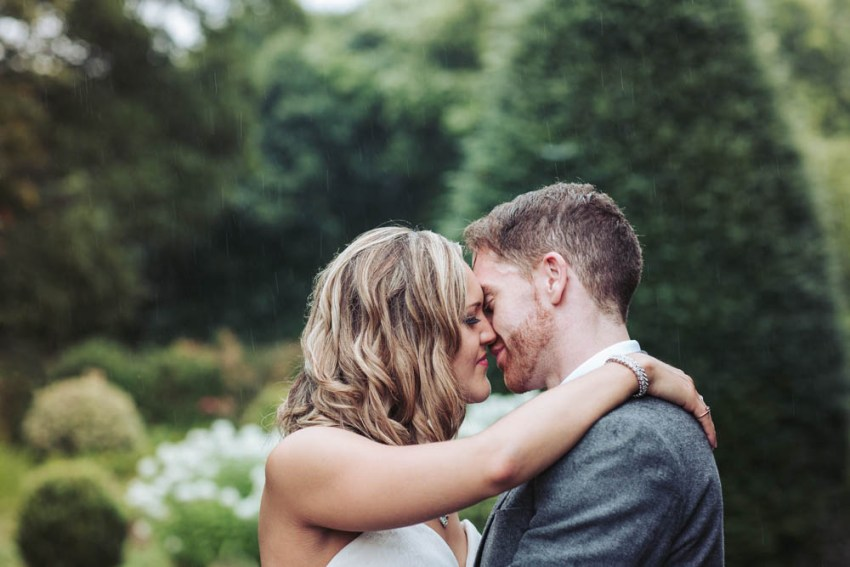 Oakwell Hall wedding | bride and groom kiss