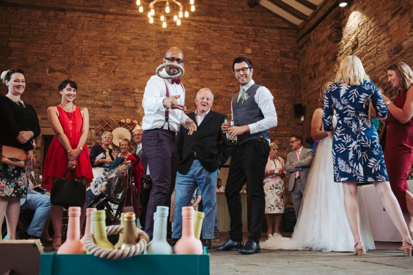 Bottle Ring Toss - Classic and vintage games for weddings