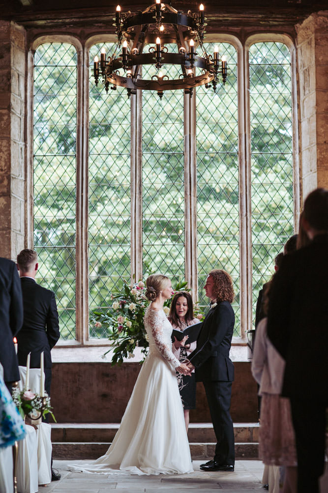 Medieval setting of the Priests House, a Barden Tower wedding, near Bolton Abbey in Skipton. By Yorkshire wedding photographer UK.
