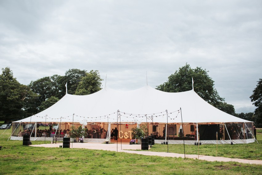Papakata marquee York wedding, Yorkshire.