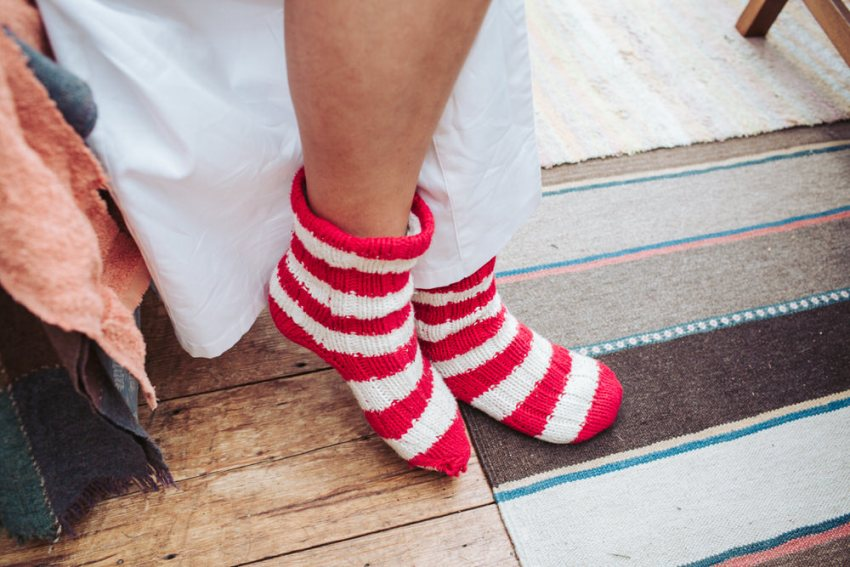 Brides slipper socks.