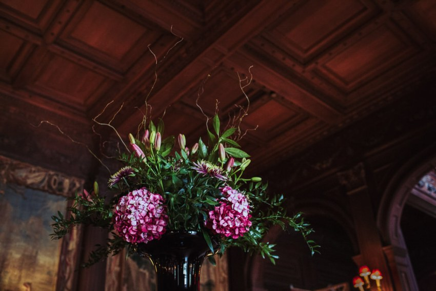 Flowers in vase at Cliveden House hotel