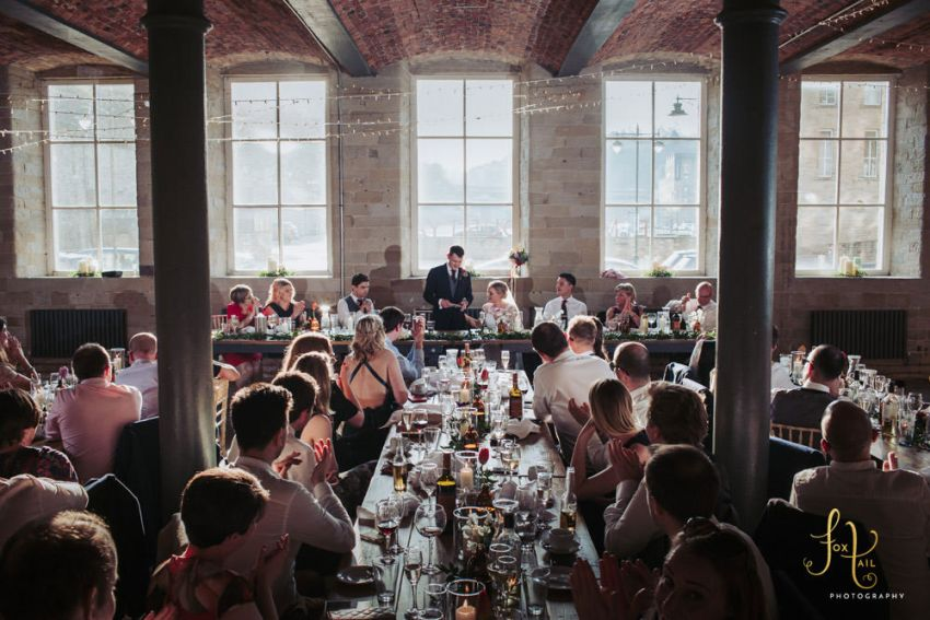 Halifax wedding venue, speeches at the Arches.