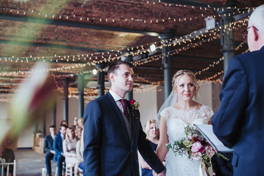 Wedding ceremony at the Arches in Halifax