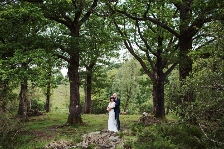 Silverholme Manor wedding photography at Grubbins Point in the Lake District.