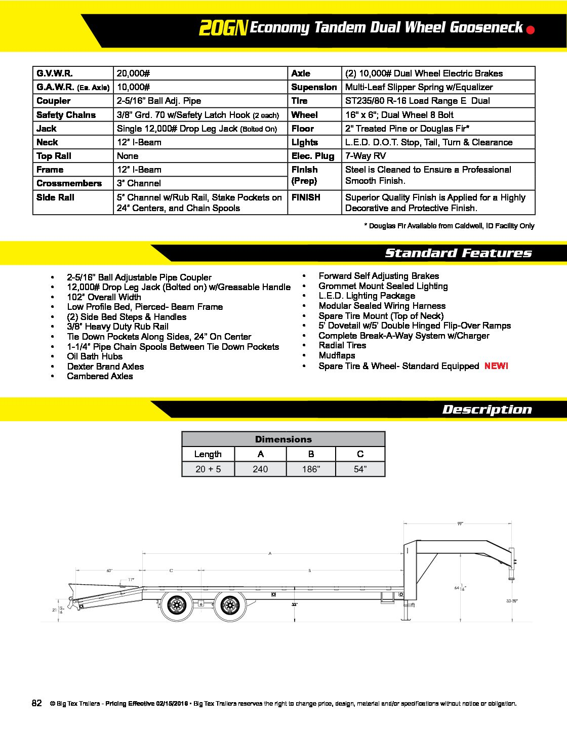 hight resolution of big tex gooseneck 20 5 dove 20k fox trailers big tex big tex wiring harness