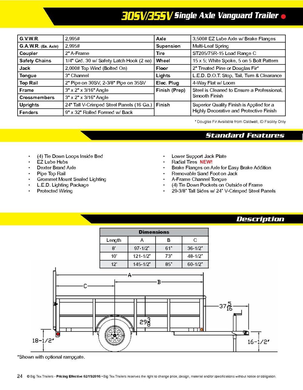 medium resolution of 5 x 10 big tex utility trailer with sides