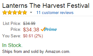 For Lanterns, Amazon is the seller. (Behind the scenes, we are the vendor.)