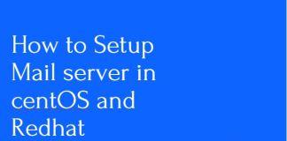 How to setup mail server in centos